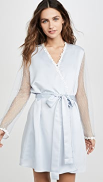 Showstopper Charmeuse Lace Robe
