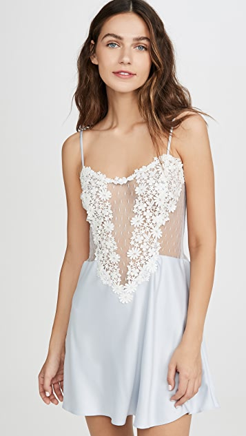 Flora Nikrooz Showstopper Charmeuse Lace Chemise