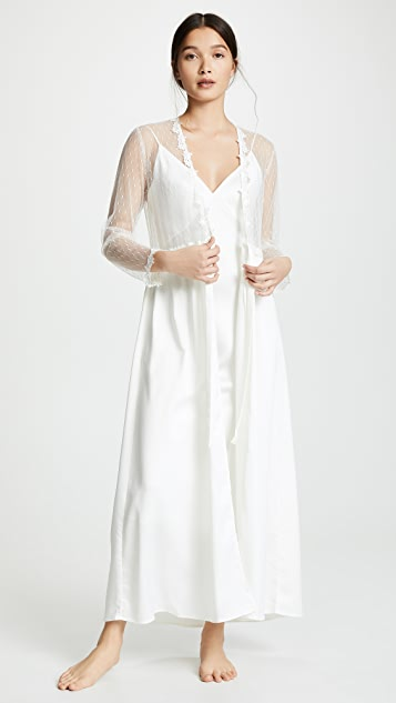 Flora Nikrooz Showstopper Charmeuse Lace Robe