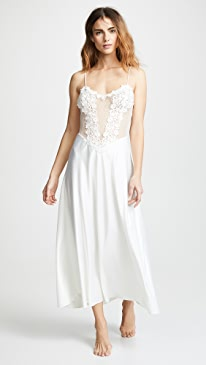 Showstopper Charmeuse Gown with Lace