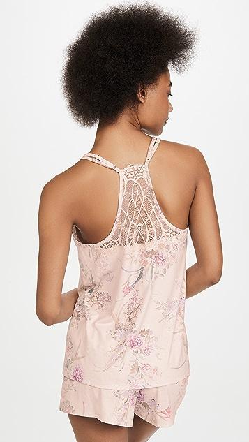 Flora Nikrooz Jasmine Knit PJ Set with Lace Trim