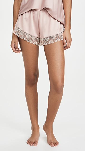 Flora Nikrooz Ada Charmeuse Cami Shorts Set With Lace
