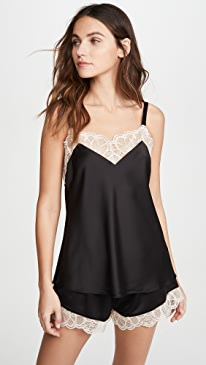 Gabby Charmeuse Cami and Tap Shorts with Lace