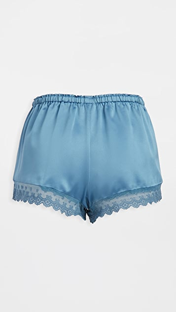 Flora Nikrooz Solid Charmeuse Shorts with Lace