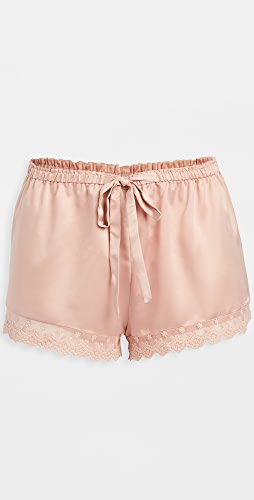 Flora Nikrooz - Solid Charmeuse Shorts with Lace