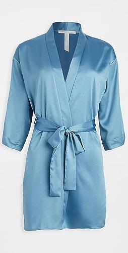 Flora Nikrooz - 纯色软缎围裹式长袍