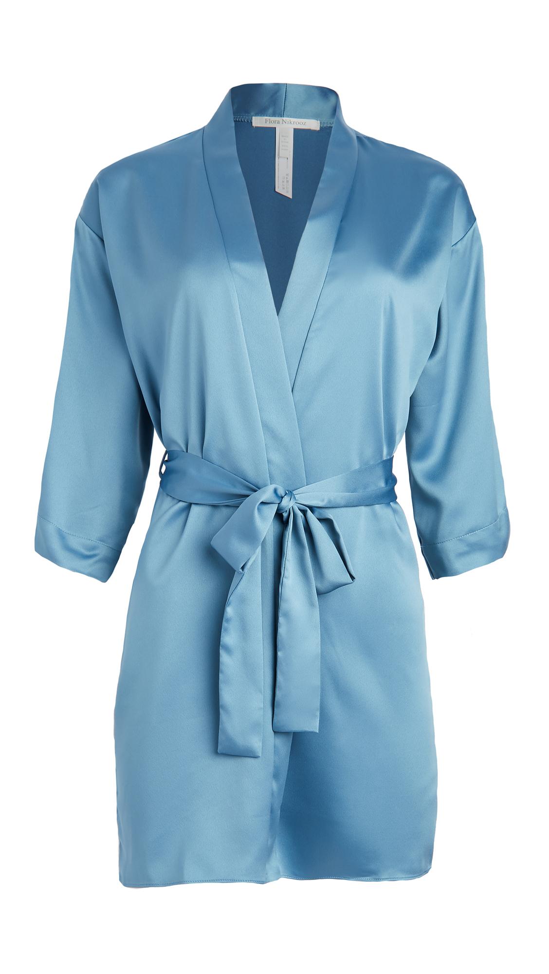 Flora Nikrooz Solid Charmeuse Wrap Robe