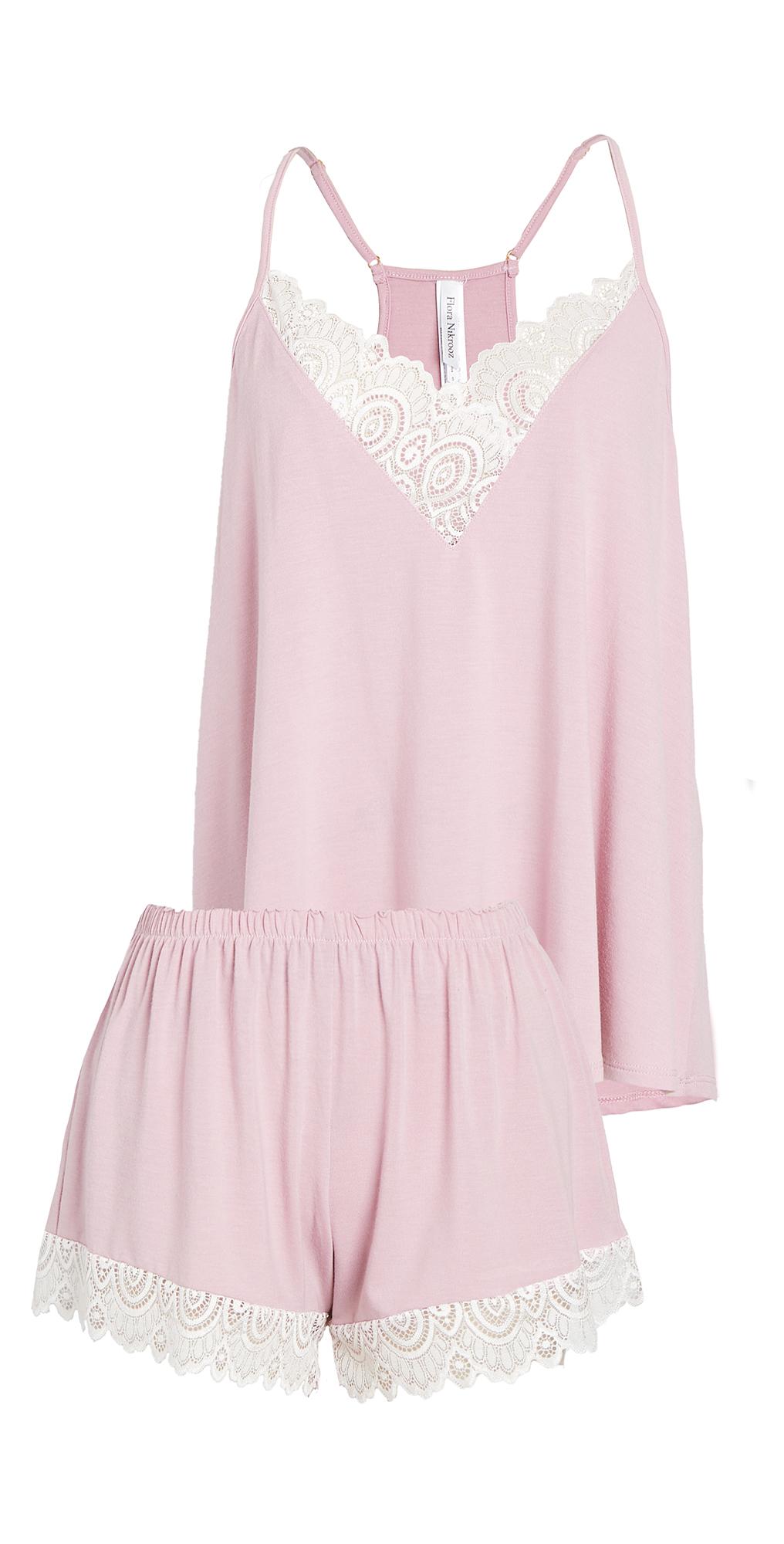 Floretta II Knit Cami Pajama Set with Lace Trim