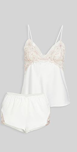 Flora Nikrooz - 蔷薇元素吊带背心 & 短裤套装