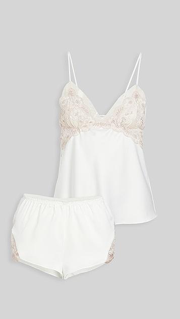 Flora Nikrooz 蔷薇元素吊带背心 & 短裤套装