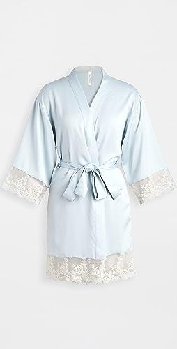 Flora Nikrooz - Rosa Charmeuse Embroidered Kimono