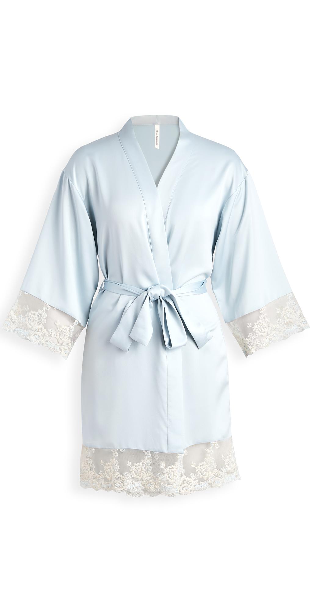 Rosa Charmeuse Embroidered Kimono