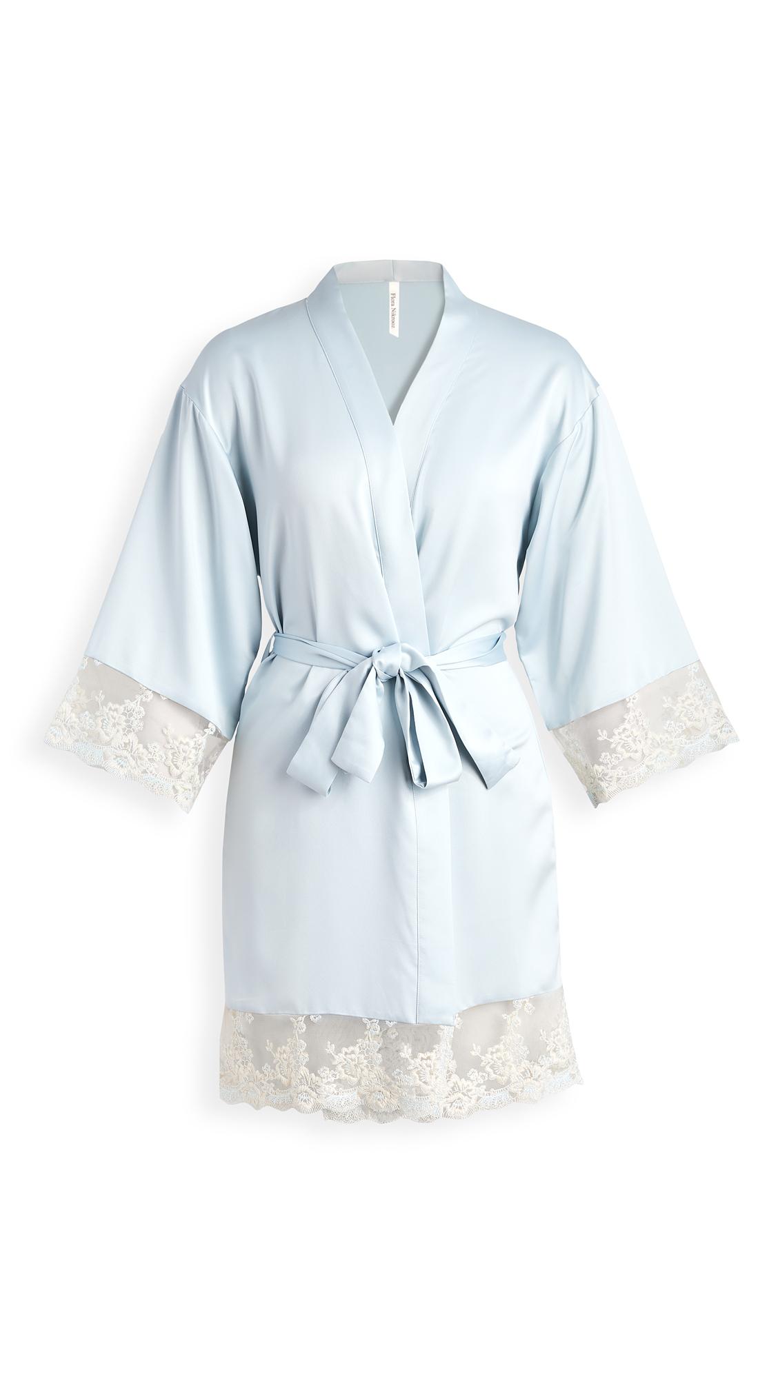 Flora Nikrooz Rosa Charmeuse Embroidered Kimono