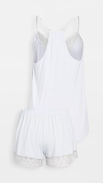 Flora Nikrooz 针织吊带和踢踏短裤睡衣套装
