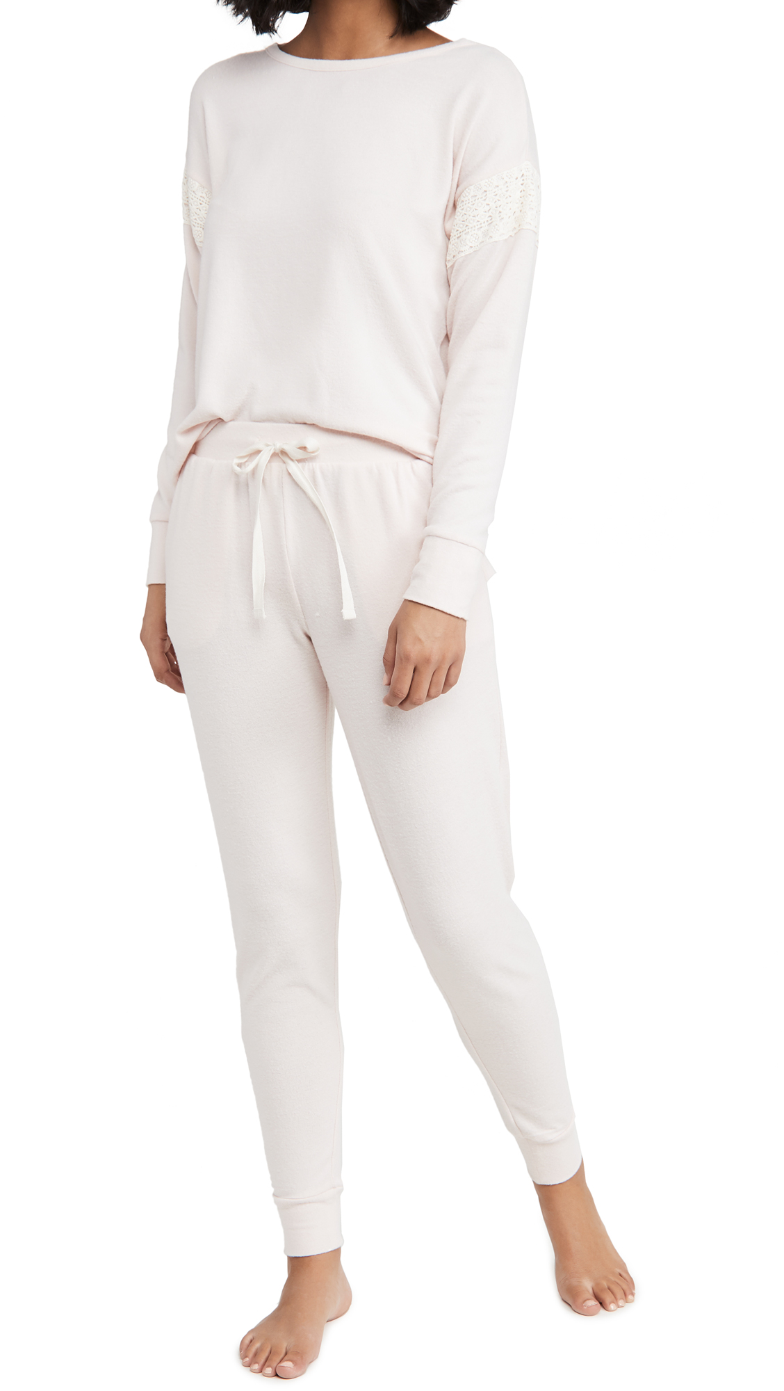 Flora Nikrooz Brushed Knit Long Sleeve PJ Set
