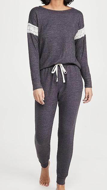 Flora Nikrooz Brushed Knit Long Sleeve PJ Set