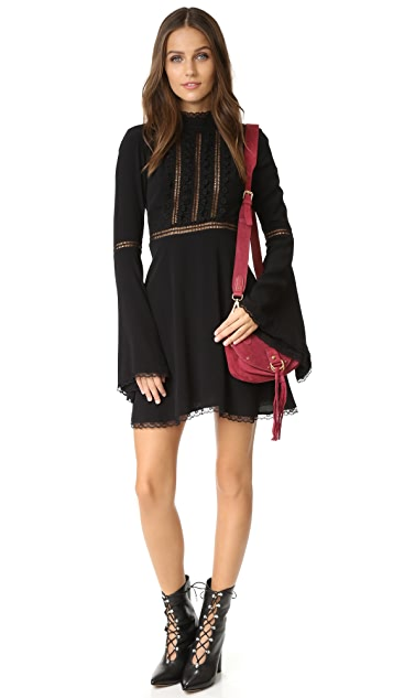 For Love & Lemons Willow Bell Sleeve Dress