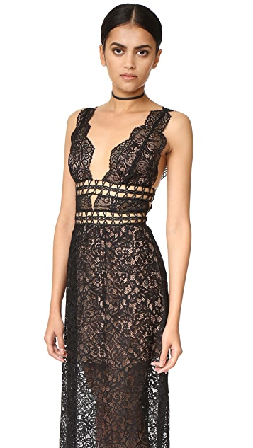 For Love & Lemons Mon Cheri Midi Dress