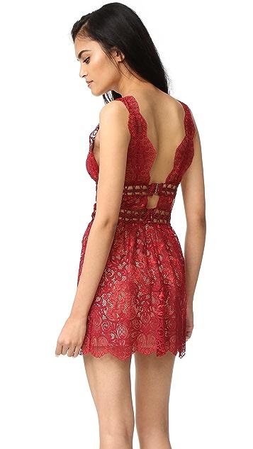 For Love & Lemons Mon Cheri Mini Dress