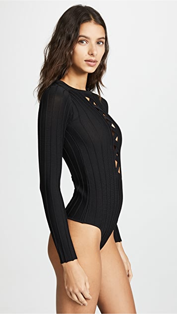 For Love & Lemons Simone Laced Bodysuit