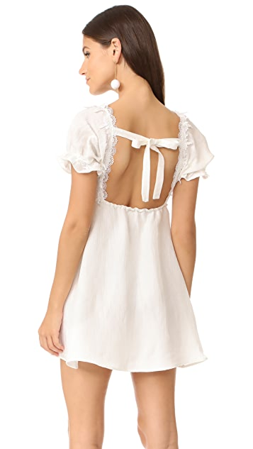 For Love & Lemons Crema Babydoll Dress