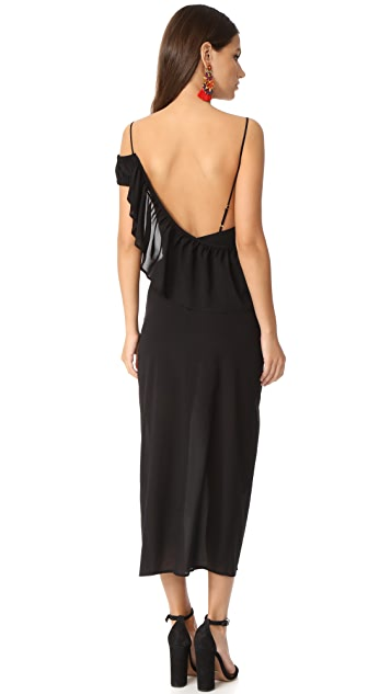 For Love & Lemons Flamenco Maxi Dress