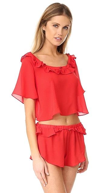 For Love & Lemons Little Rosette Sleep Shirt
