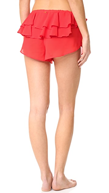For Love & Lemons Little Rosette Sleep Shorts
