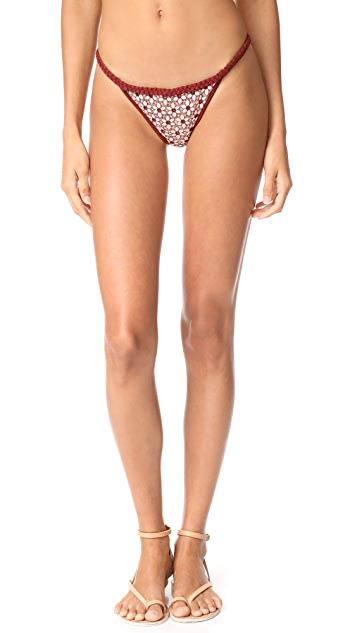 For Love & Lemons Samba Braided Bikini Bottoms