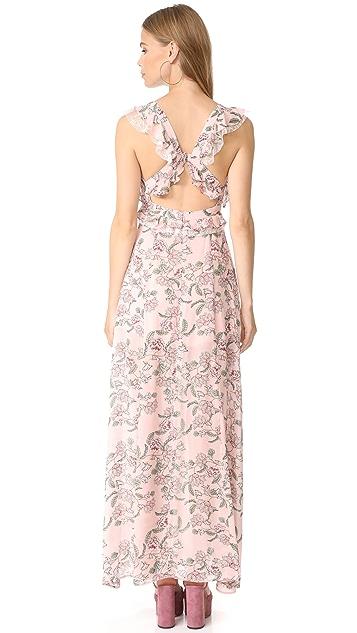 For Love & Lemons Bee Balm Floral Maxi Dress