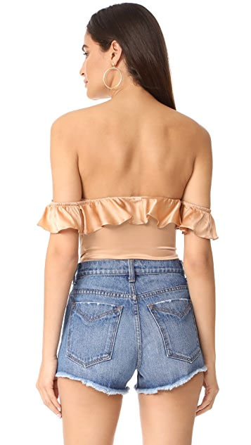 For Love & Lemons Virgo Ruffle Bodysuit
