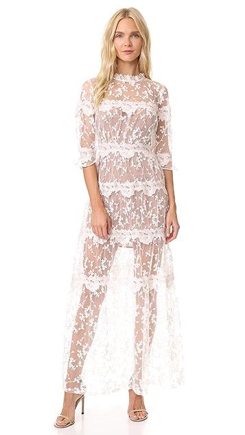 5cda2d0f8f2 For Love   Lemons Rosebud Embroidery Maxi Dress