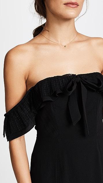 For Love & Lemons Claire Off Shoulder Dress