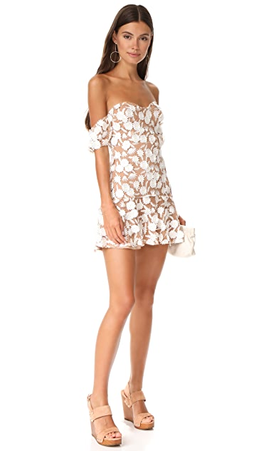For Love & Lemons Amelia Strapless Mini Dress