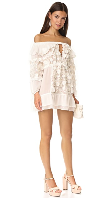For Love & Lemons Dress Off Shoulder Tunic