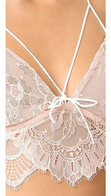 For Love & Lemons Esme Foil Lace Bralette