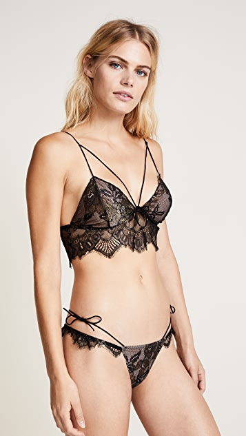 For Love & Lemons Esme Foil Lace Bralette