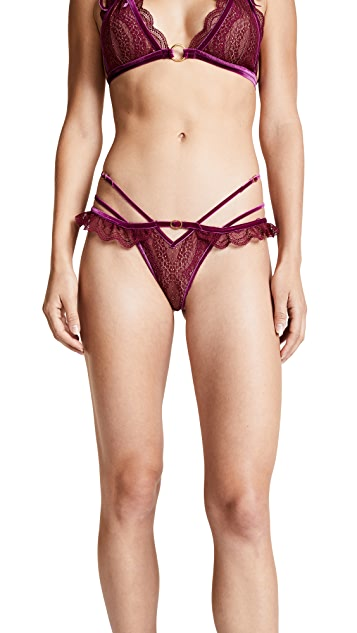 For Love & Lemons Evie Lace Thong