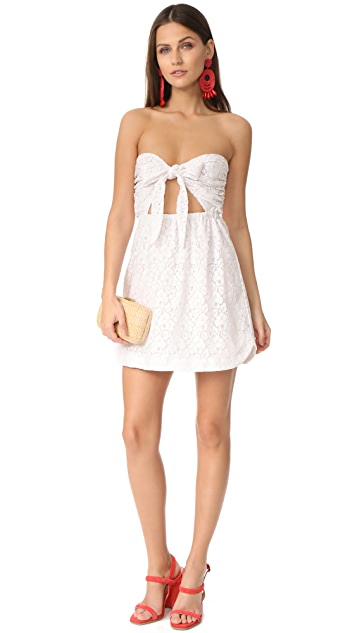 For Love & Lemons Strapless Shirtdress