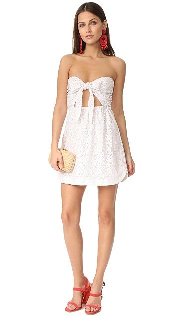 For Love & Lemons Strapless Shirtdress
