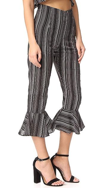 For Love & Lemons Stripe Pants
