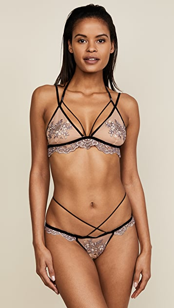 For Love & Lemons Noemi Strappy Bralette
