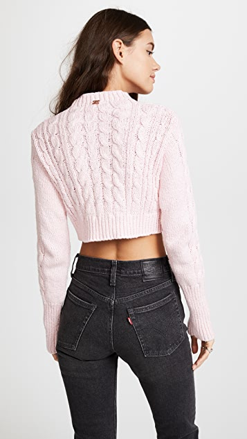 ... For Love   Lemons Candy Cable Knit Sweater ... e52121a21