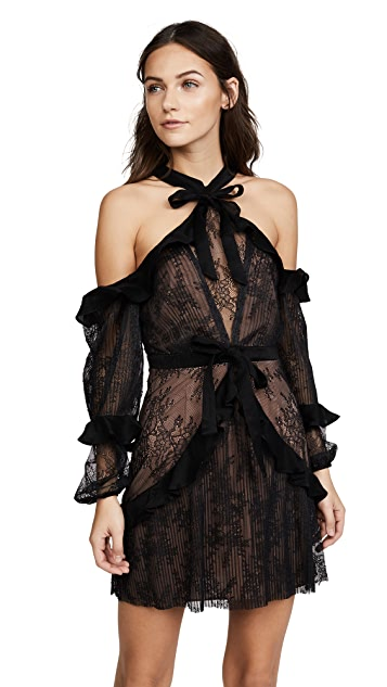 For Love & Lemons Margot Off the Shoulder Mini Dress
