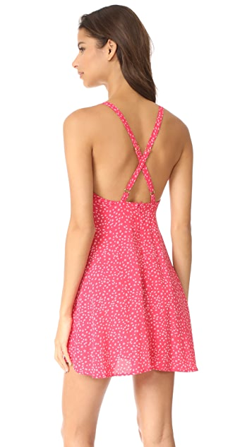 For Love & Lemons Pink Star Tank Dress