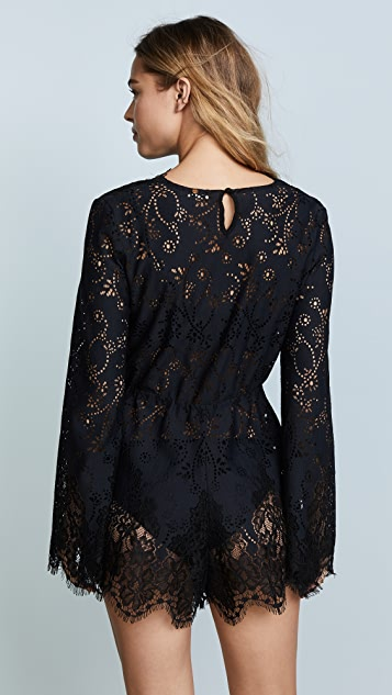 For Love & Lemons Olympia Lace Romper