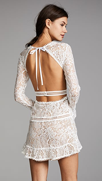 For Love & Lemons Emerie 镂空连衣裙