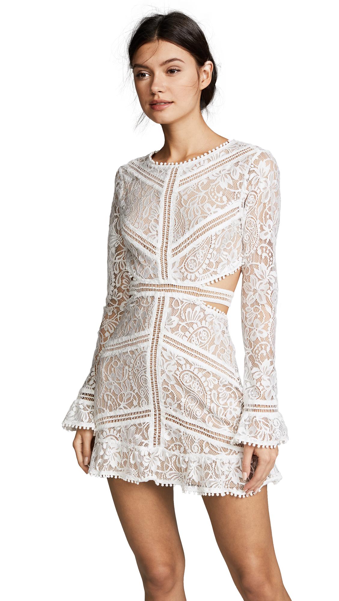 For Love & Lemons Emerie Cutout Dress