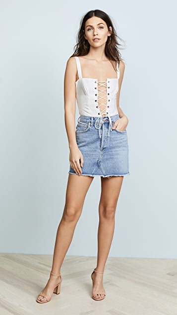 For Love & Lemons Poppy Corset Bodysuit