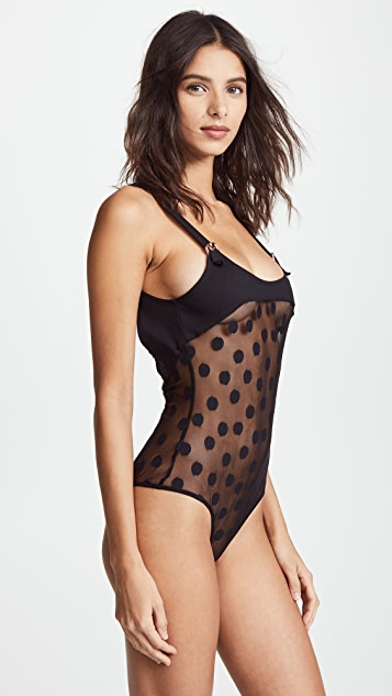 For Love & Lemons Clementine Dot Bodysuit
